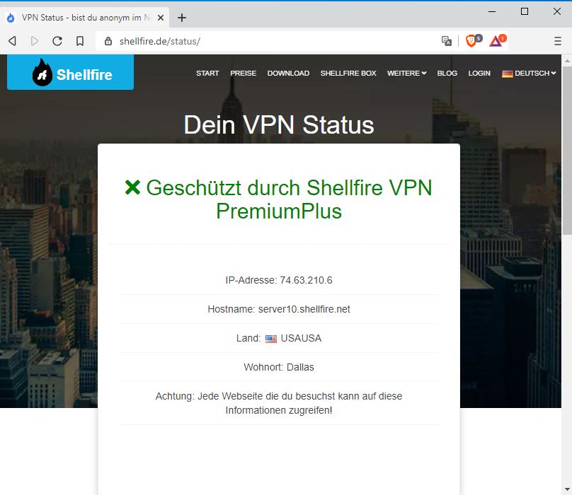 VPN Verbindungsstatus