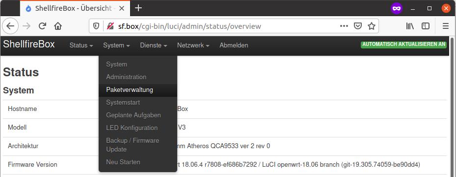 OpenWRT Paketverwaltung