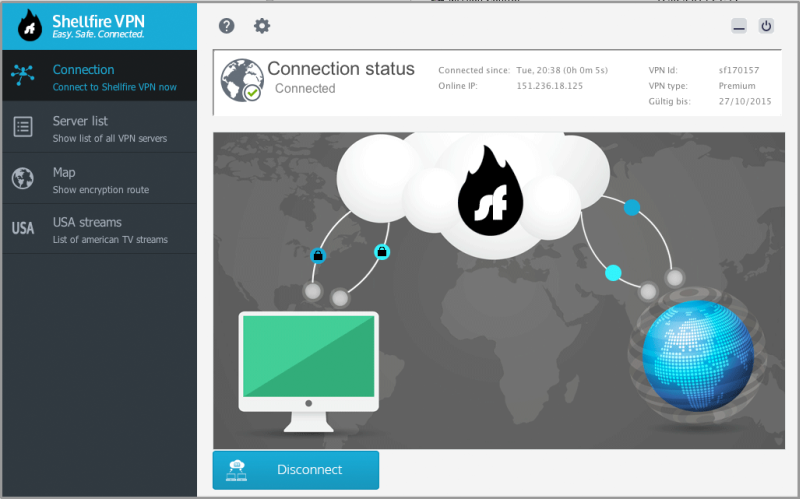 Shellfire VPN Screenshot